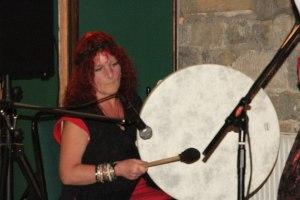 Sandi on Shamanic Drum